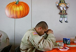 U.S. Soldiers Celebrate Thanksgiving In Iraq