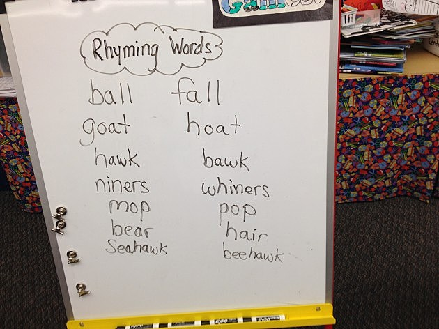 Worksheets Rhymes Words Examples local elementary school students examples of rhyming words make you laugh photo
